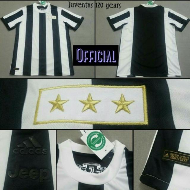 7f6f69afada Jersey Retro Classic Juventus Home Edisi Anniversary 120th Retro Limited