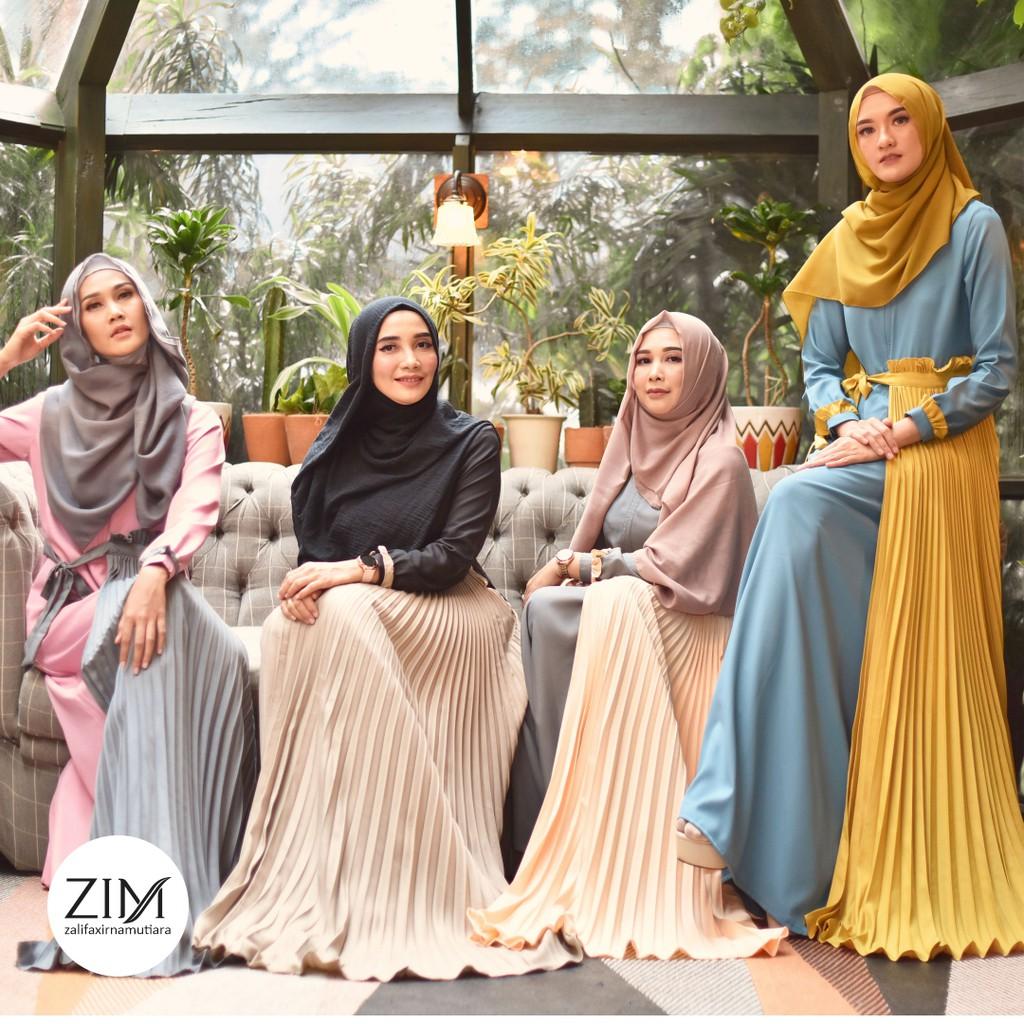 Marceline Dress by Zalifa x Irna Mutiara - Baju Muslim Wanita - Gamis