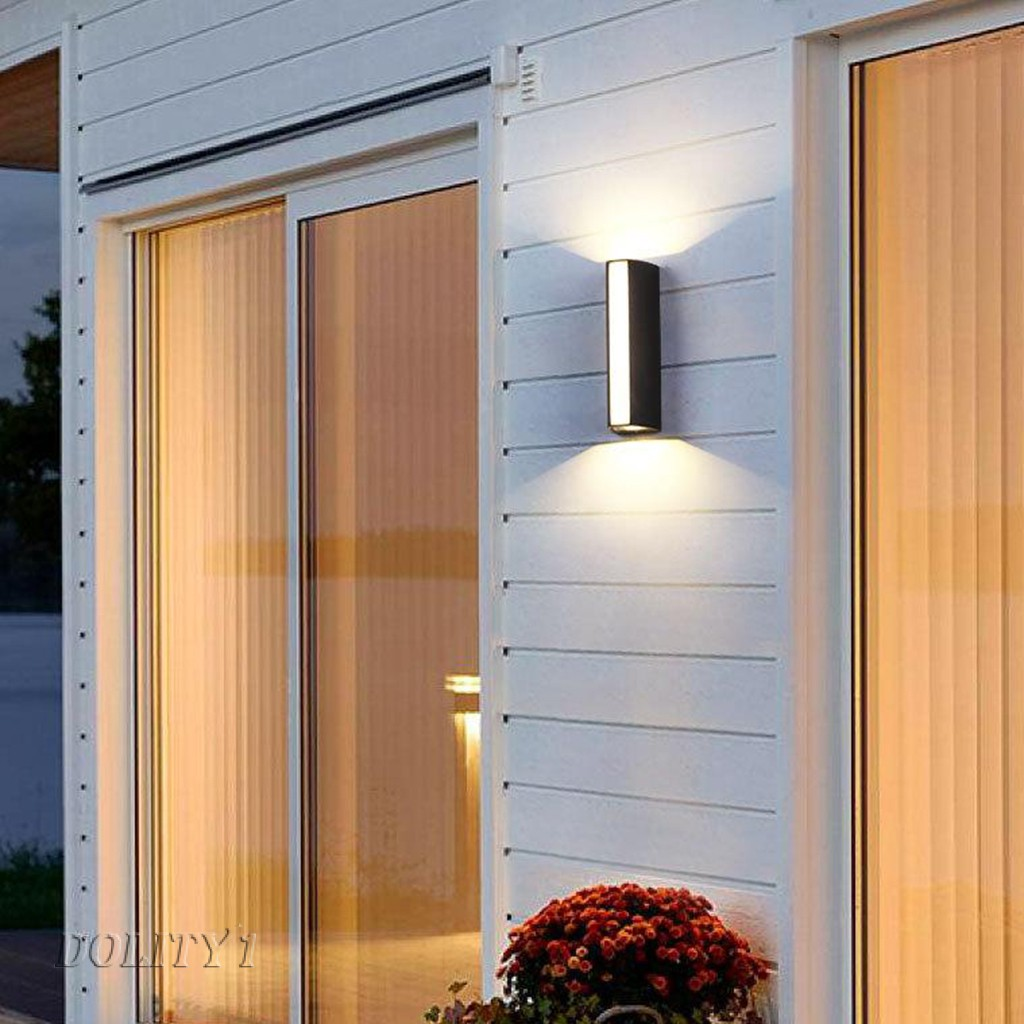 Dolity1 Led Outdoor Wall Light Security Lamp 3 Lights For Porch Corridor Garden Shopee Indonesia