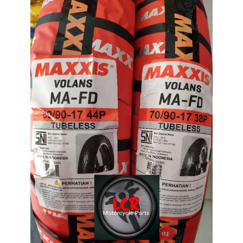 Paket Ban Motor Maxxis //70/90 + 80/90-17 Ring 17 Tubeless Tubles Maxis Bebek Standar Yamaha Honda