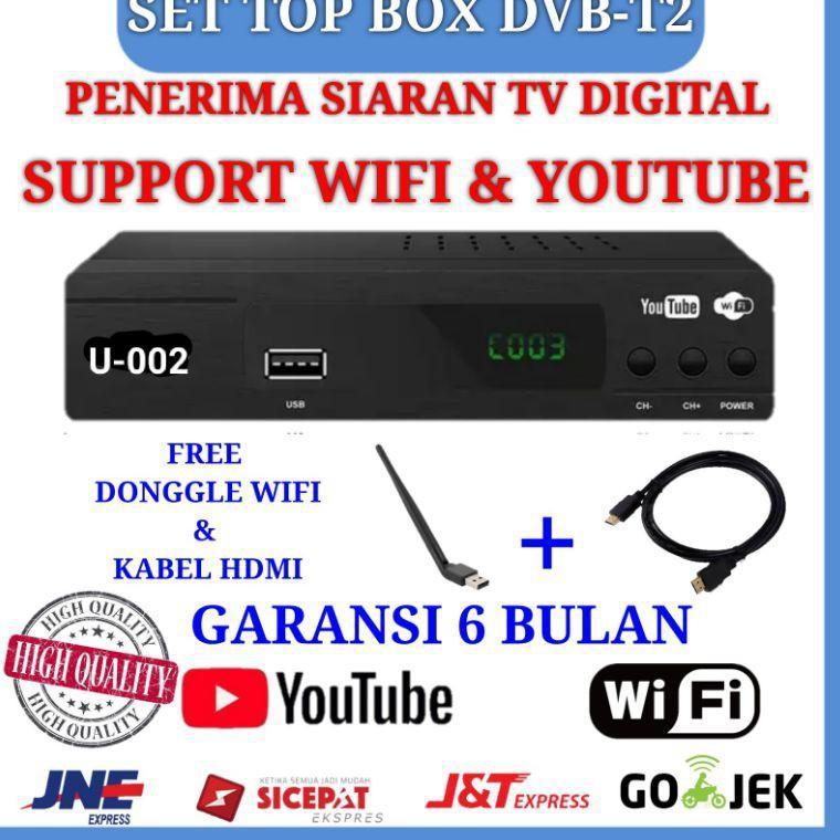 EZ-BOX SET TOP BOX DVB-T2 PENERIMA SIARAN TELEVISI DIGITAL YOUTUBE WIFI (KODE 0313)