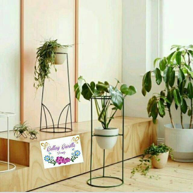 Standing Planter Rak Pot Motif Shopee Indonesia