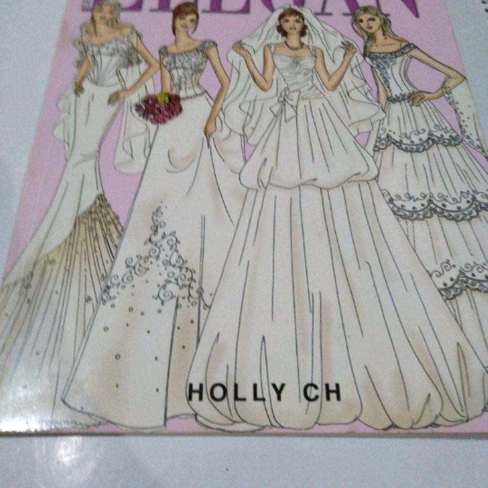 seri sketsa model gaun pengantin elegan Buku Best Seller