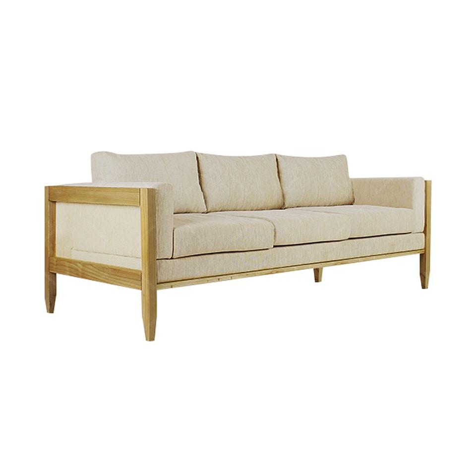 Kursi Sofa Santai 3 Seater Unik Bahan Full Kayu Solid Pinus Jati