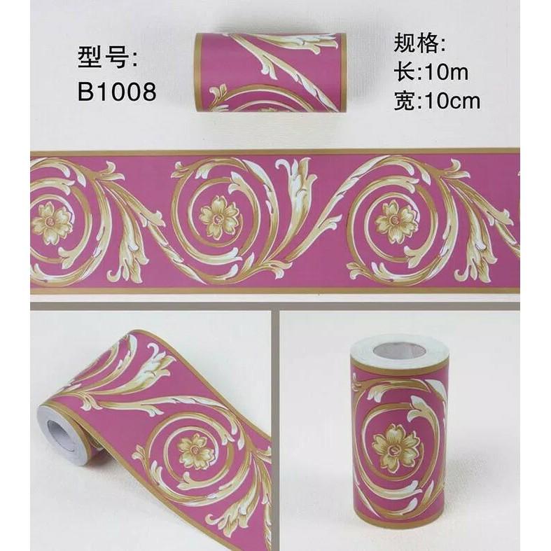 BL031 BORDER STIKER/WALLBORDER PINK SHABBY ROSES 10cm x 10m | Shopee Indonesia