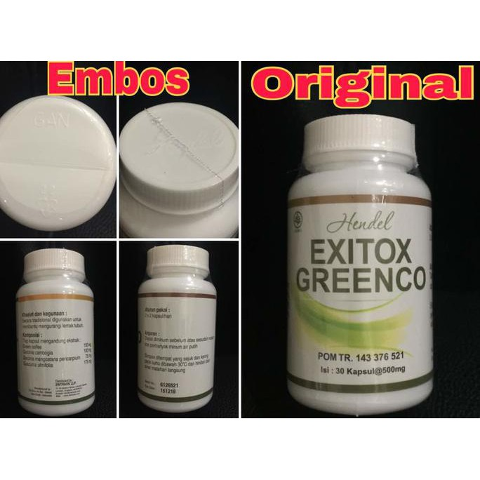 Exitox Green Coffee Bean Hendel Obat Pelangsing Herbal Alami Halal | Shopee Indonesia