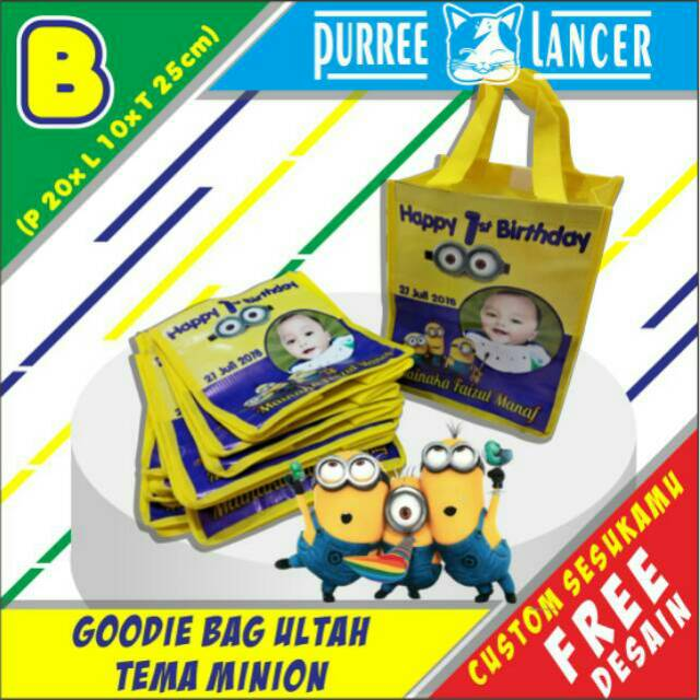 Goodie Bag Custom Tas Souvenir Tangan Ulang Tahun Ultah