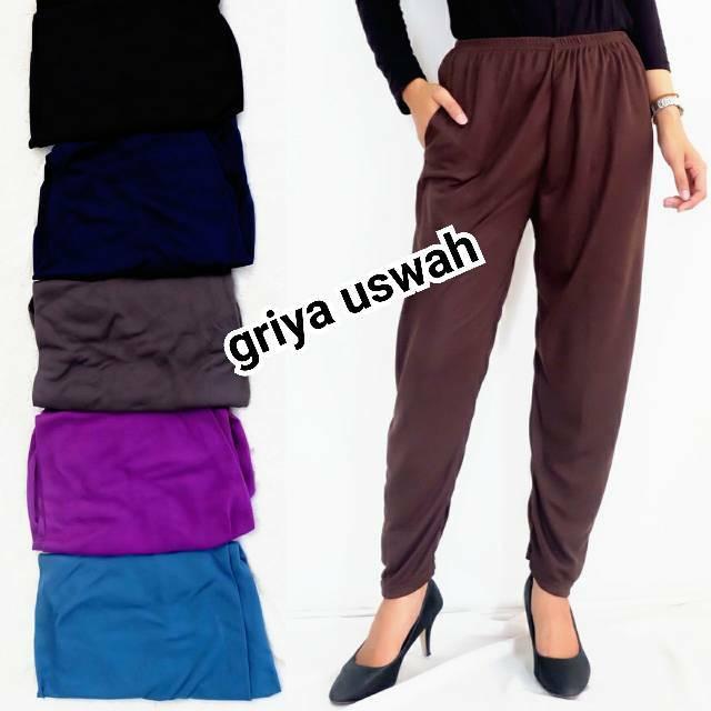 Legging Kaos Polos Celana Panjang Wanita Muslimah Celamis Leging Cewek Grosir Solo Innerpants Shopee Indonesia