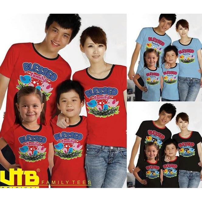 Murah Baju Kaos Pasangan Keluarga Couple Family Tees Anak Ayah Bunda Vt-005 ,,