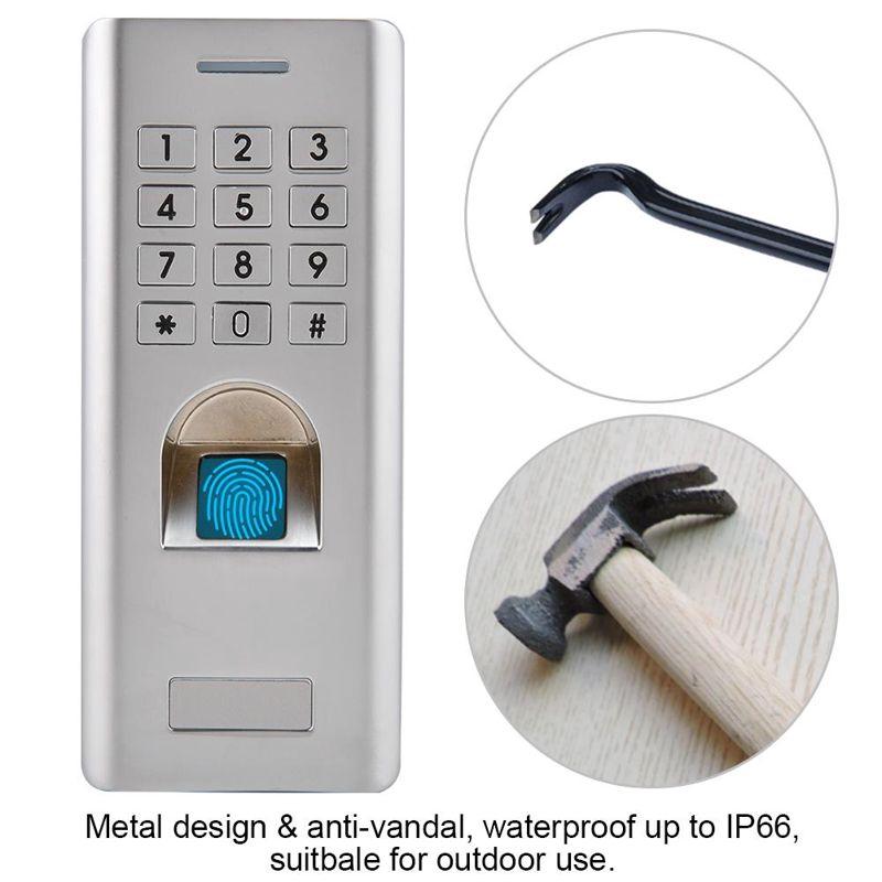 Fingerprint Access Control 1000 Fingerprint + 2000 PIN Door Access Control,Waterproof Password Access Control Security System Kit for Homes Offices Houses