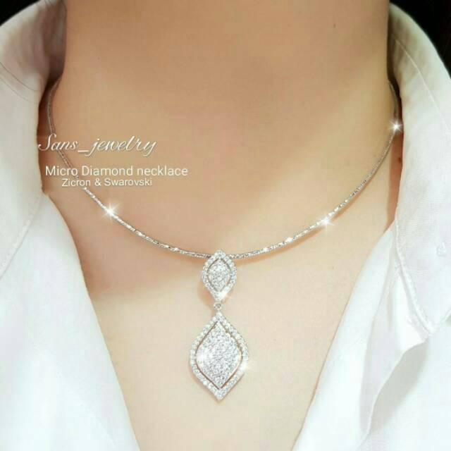 Kalung hati merah kecil versi Korea perempuan Sen klavikula rantai 925 perak liontin perhiasan | Shopee Indonesia