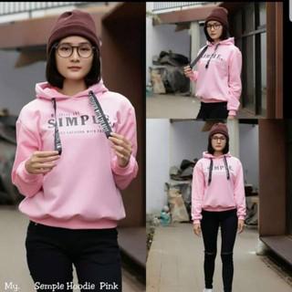 Simple hodie / jaket cewe / hoodie wanita / sweater wanita | Shopee Indonesia