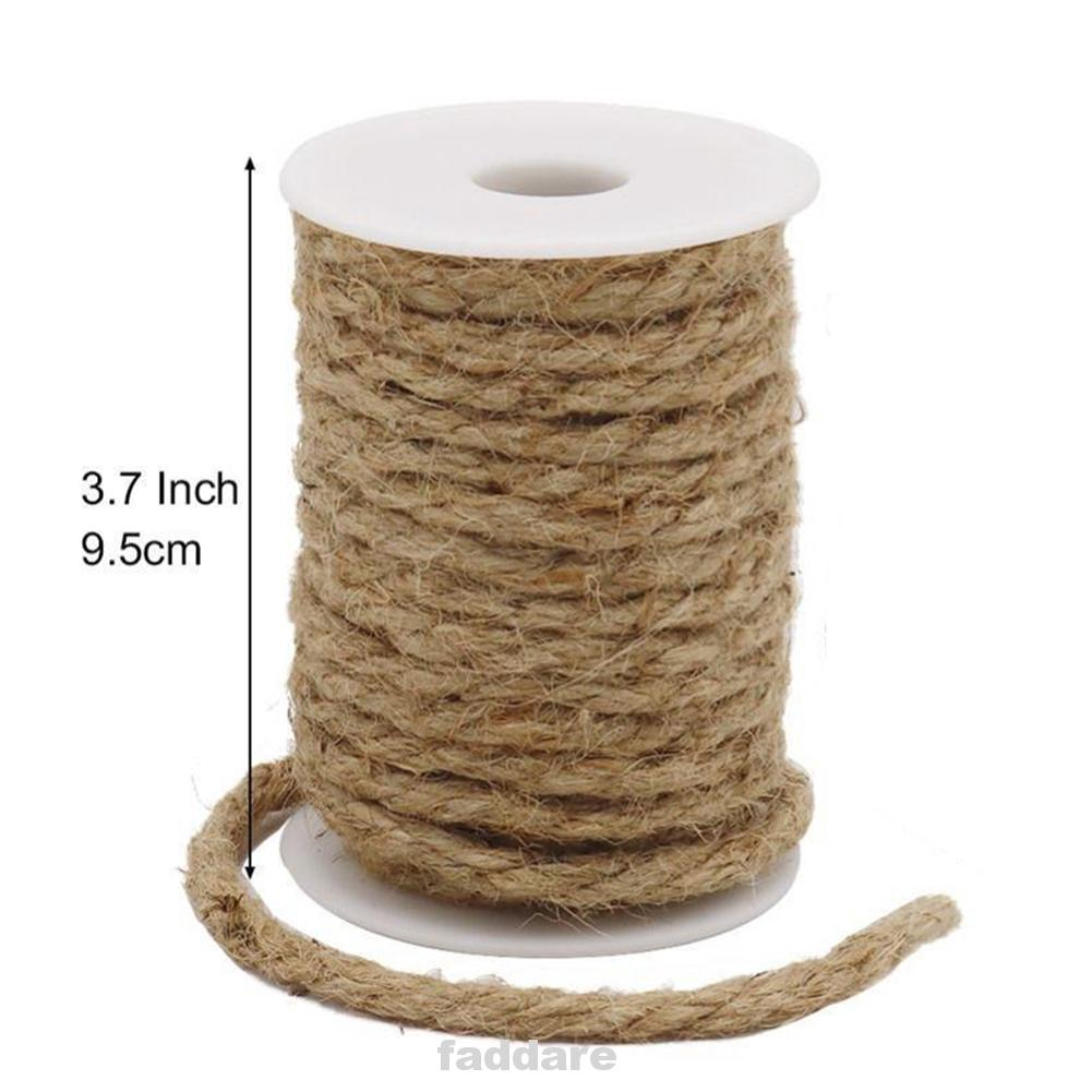 Gardening Packing Decoration 18 m Thick Garden Jute Rope Cord 6mm Hemp Rope String Thick Brown Twine for Craft