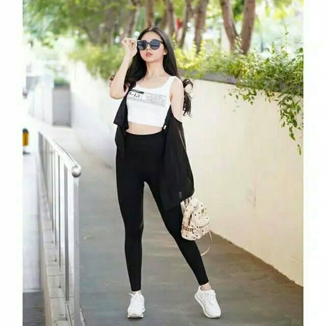 Legging Wanita Panjang Bahan Licin Premium Legging Spandek Panjang Celana Panjang Bahan Licin Shopee Indonesia