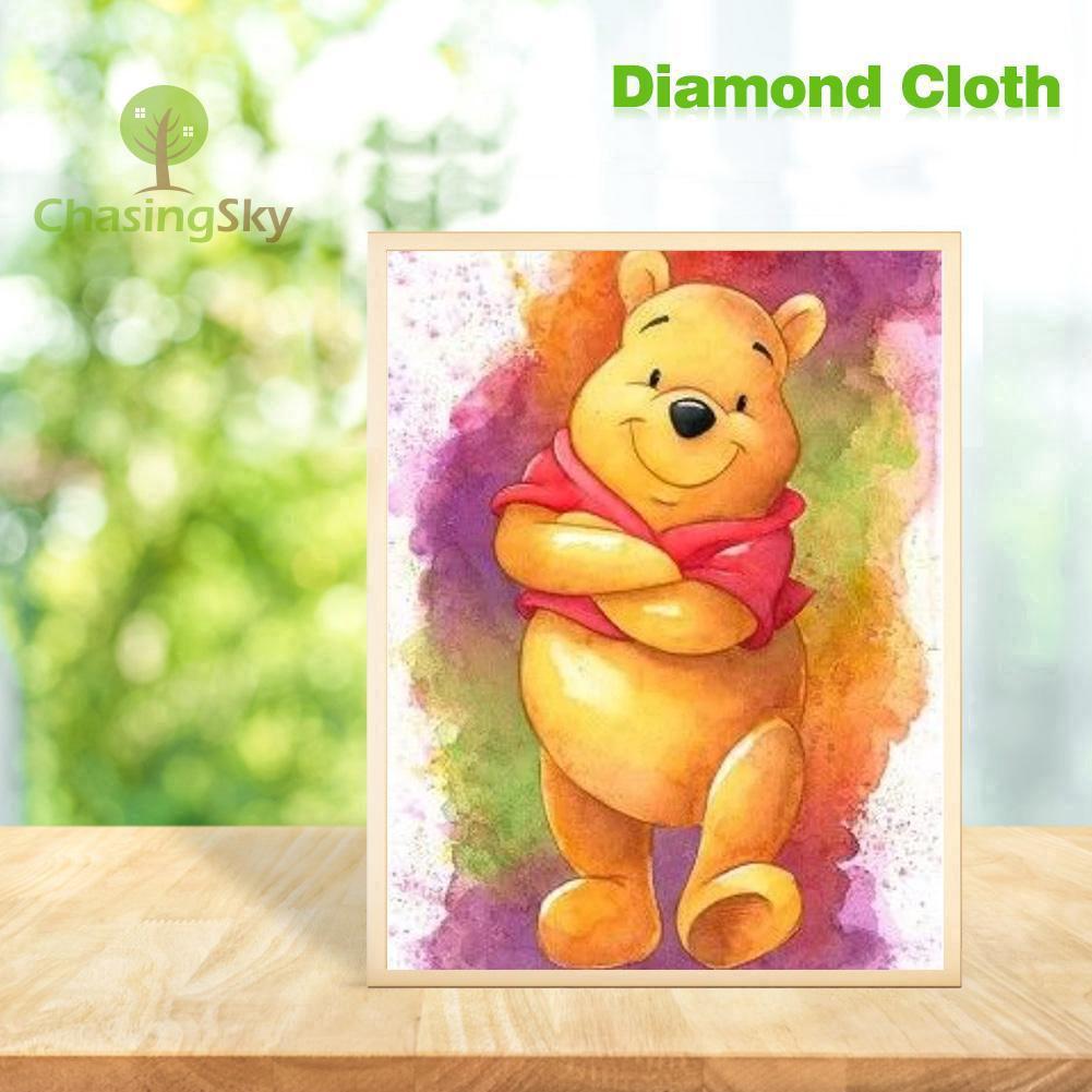 COD Lukisan Diamond 5D DIY Gambar Winnie The Pooh Untuk Dekorasi Rumah