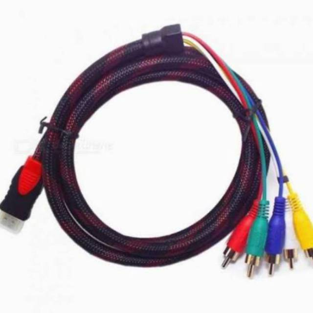 High Speed Kabel Hdmi To Rca Kabel Hdmi To 3rca Av Cable Hdmi To Av Video 3 Rca Original High Shopee Indonesia