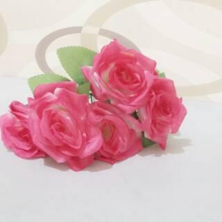 """bunga mawar plastik """"rose multiflora"""" 5 kuntum / dekorasi"""