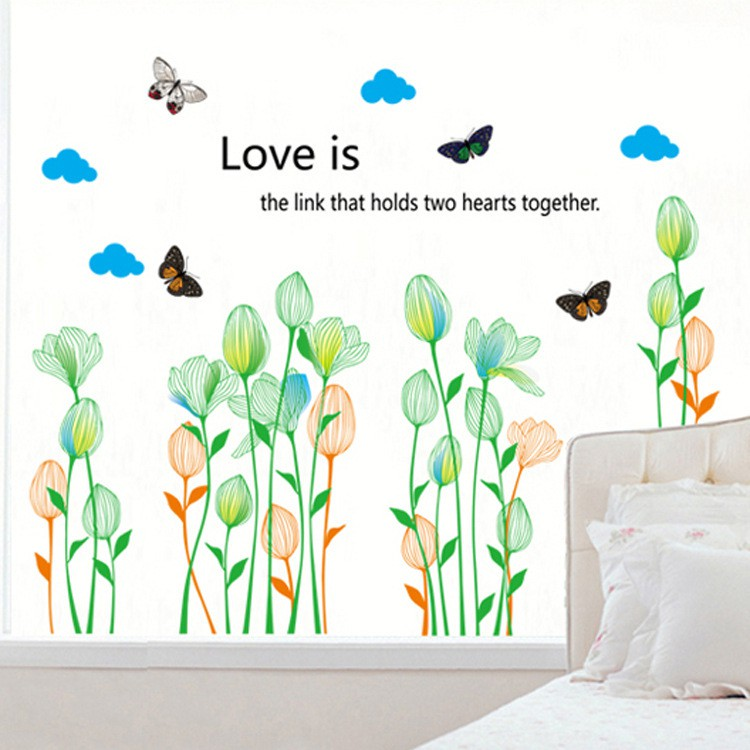 RELIZA WALL STICKER BUNGA FLOWERS TERATAI HIJAU IKAN KOI CHINA TXXL AY223 STIKER DINDING | Shopee Indonesia