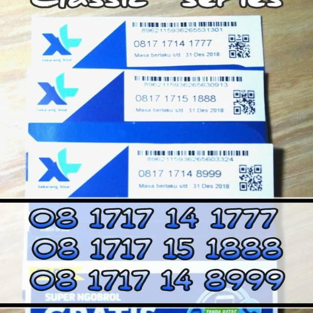XL AXIATA NOMOR CANTIK 0878 1717 9000. XL baru super ngobrol seri classic 08 1717 ekor Triple nomor cantik xl langka 4G lte