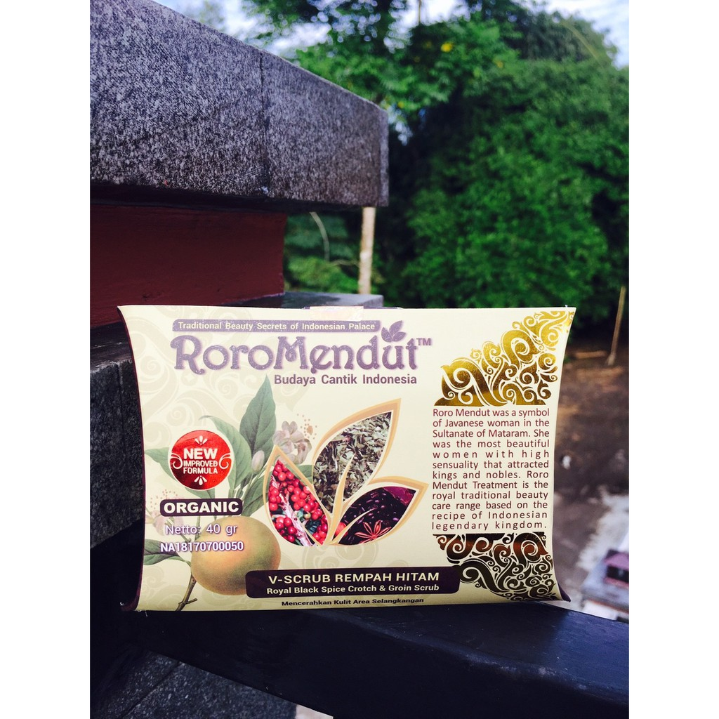 RORO MENDUT V-Scrub Rempah Hitam Pemutih Selangkangan Original BPOM | Shopee Indonesia