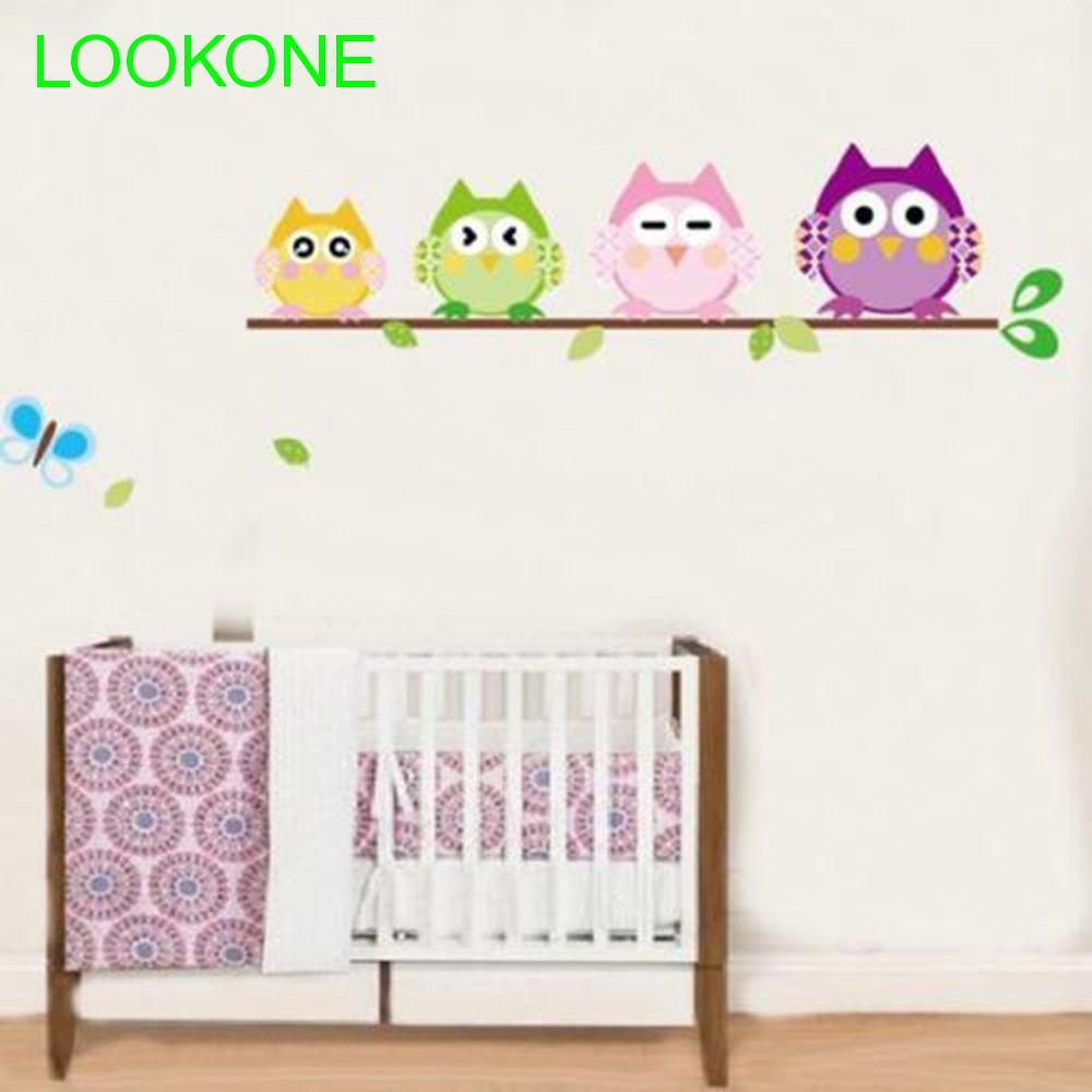 Stiker Dinding Dengan Bahan Mudah Dilepas Dan Gambar Burung Hantu