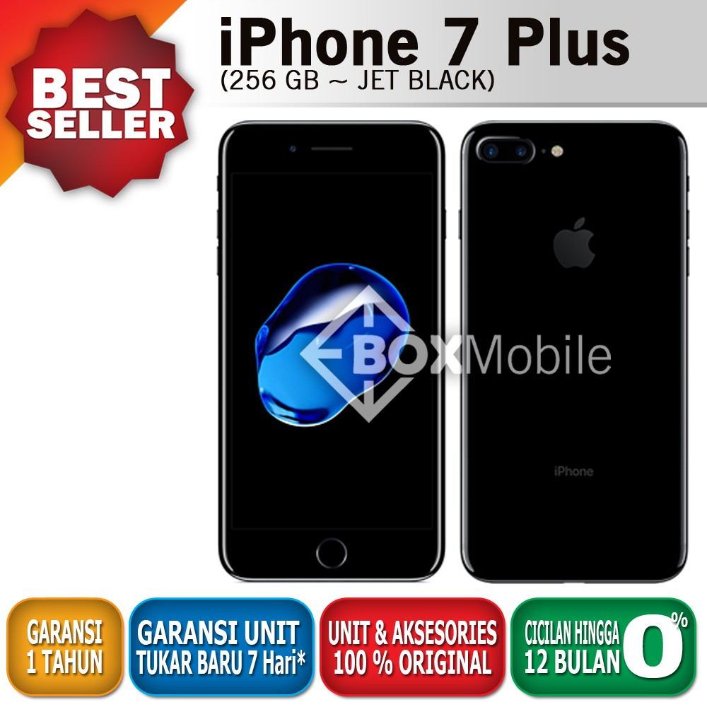 Apple Iphone 7 Plus 128gb Silver Garansi Inter 1thn Shopee Indonesia 256gb
