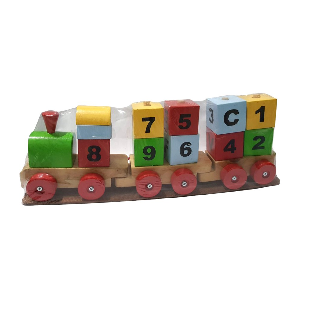 Mainan Edukasi Menara Pelangi Jumbo Shopee Indonesia Kayu Wooden Rainbow Tower Ring Donat