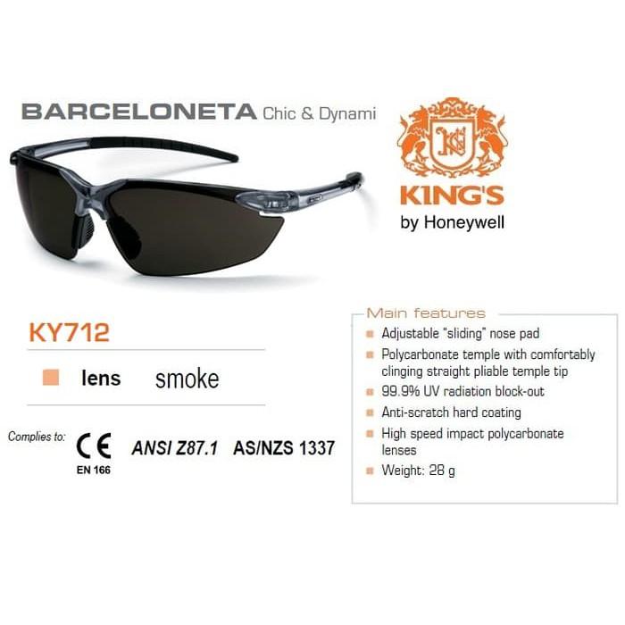 safety glass king ky8812 smoke lens-kacamata safety kings ky 8812A | Shopee Indonesia