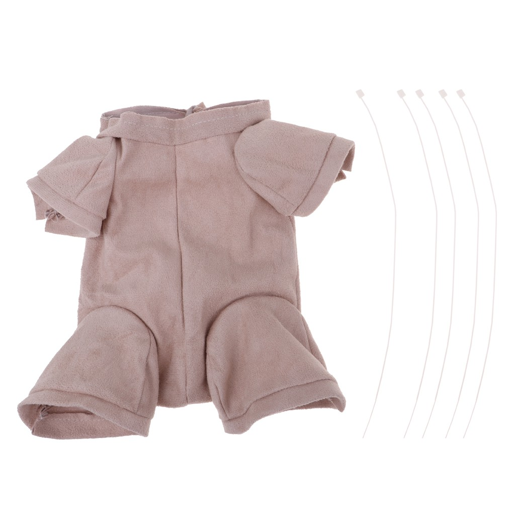 "Reborn Baby Doll Supplies Cloth Body Suade Fabric 3//4 Limbs 22/"" Newborn Doll"