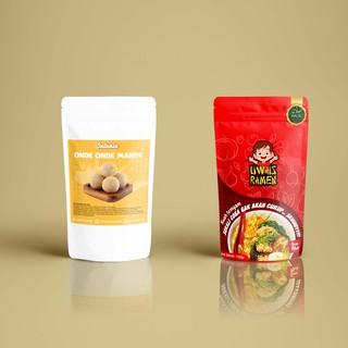 DESAIN Kemasan makanan atau masker / Packaging design ...