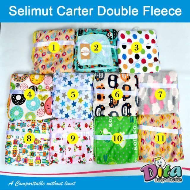 SALE Babymix - Selimut Double Fleece Carters - Selimut Bayi Gril s- Kuning Donat | Shopee Indonesia