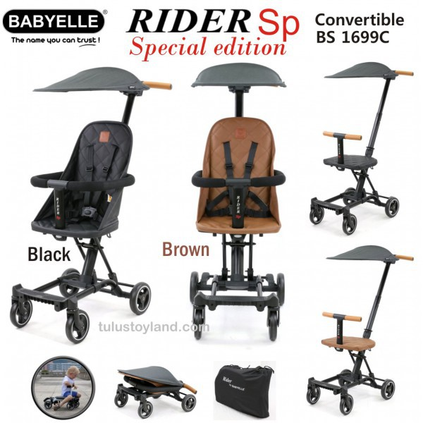Babyelle Rider Convertible Baby Elle Stroller board cabin ...