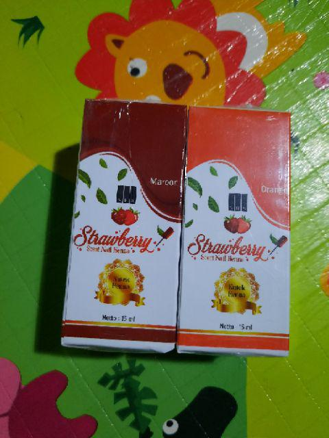 Jual Strawberry Nail Henna Hitam: Kutek/Pacar BPOM Kuku Strawberry Nail Heena Henna Original