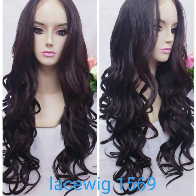 Rambut Palsu Wanita Wig Human Hair Black Hh1306431H  1d56a07b04