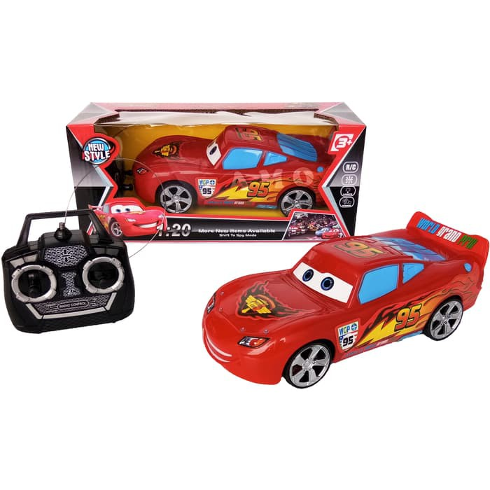 mainan mobil rc cars lightning 95 mcqueen kecil  cocok