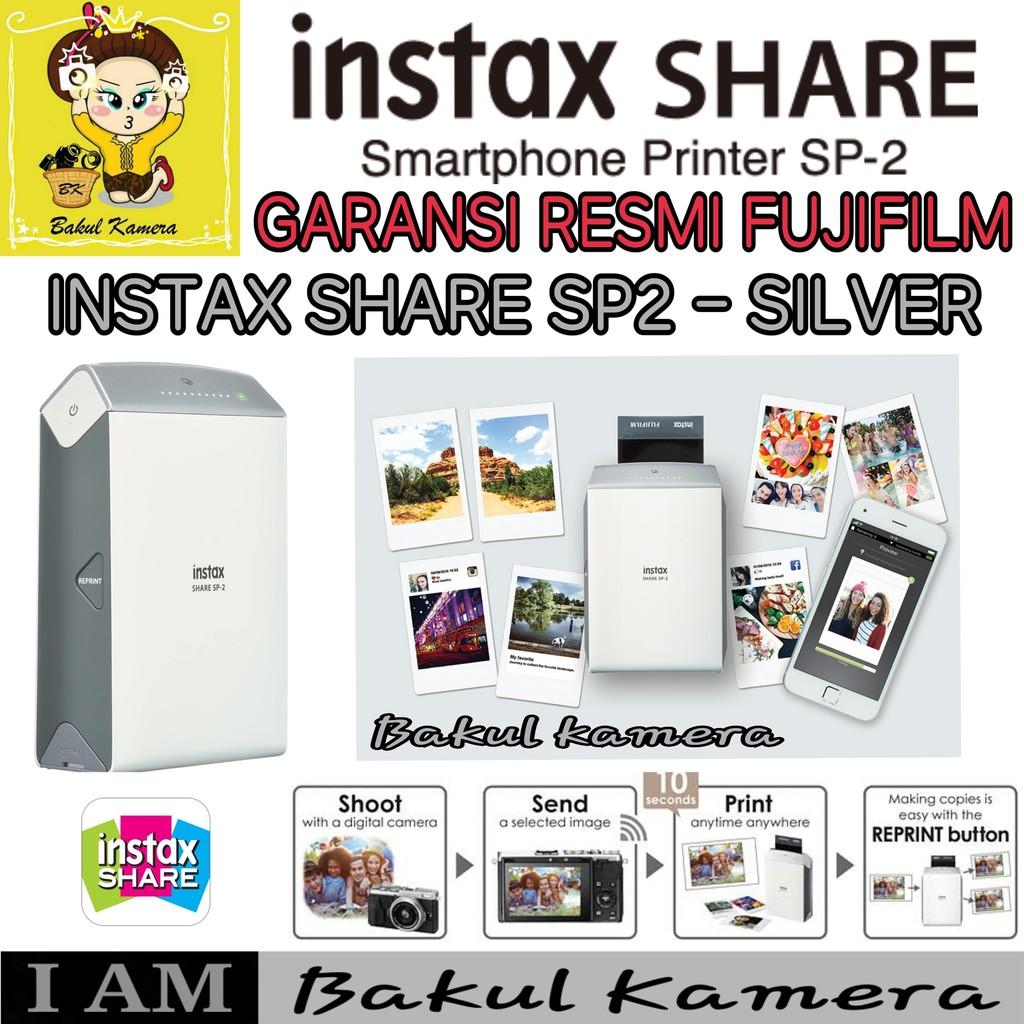 Fujifilm Kamera Instax Share Sp 2 Polaroid Camera Garansi Resmi Pwp X100f Indonesia 1tahun Cokelat