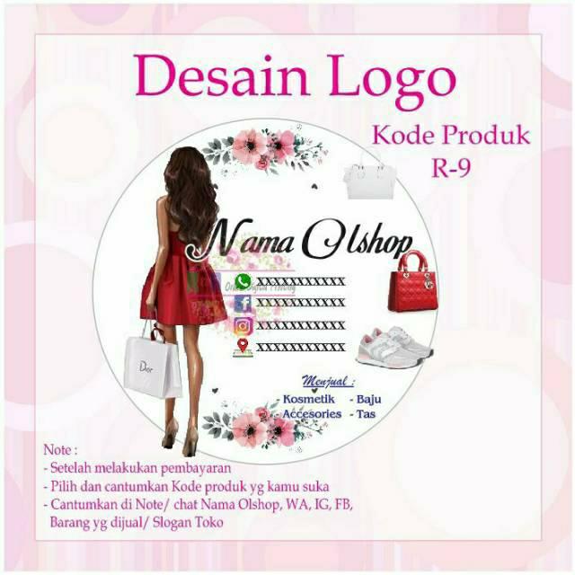Jasa Desain Logo Olshop Murah Tidak Dicetak Shopee Indonesia