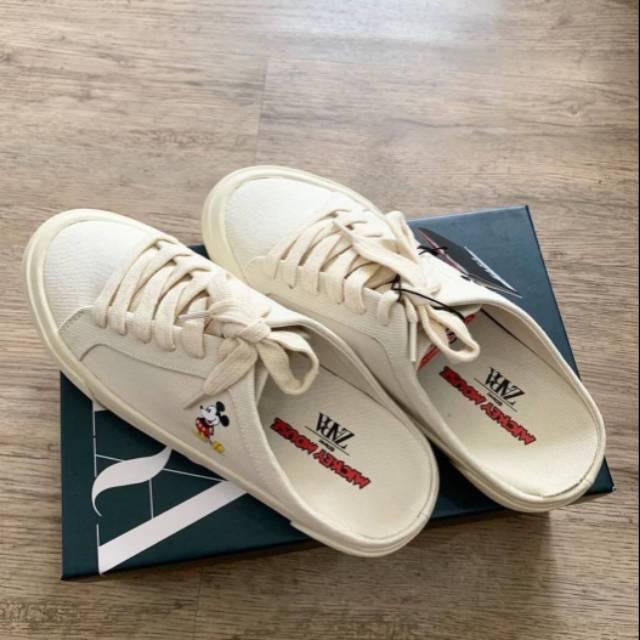 Sepatu Wanita Slip On Kerenn Zara Mickey Mouse Shopee Indonesia