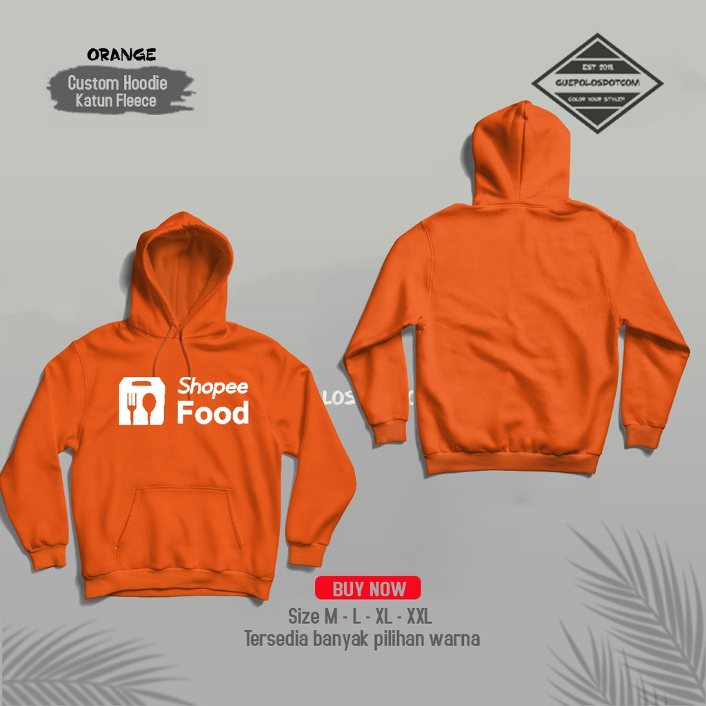 Jaket Hoodie Jumper Distro Shope Food Online LOGO DEPAN - Jaket kurir Showpee food - Jaket OjoL