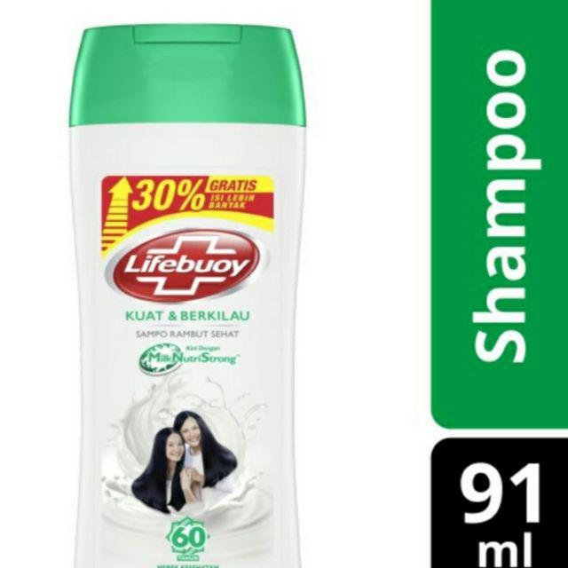 Lifebuoy Shampo Anti /STRONG & Shiny/Anti HairFall/Anti Dandruff 91mL-Strong&shiny