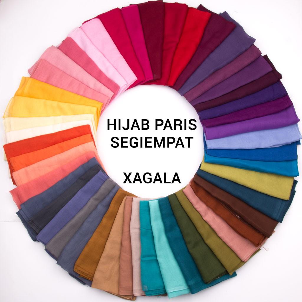Hijab Paris Segiempat Jilbab Kerudung Square Hijab Shopee Indonesia