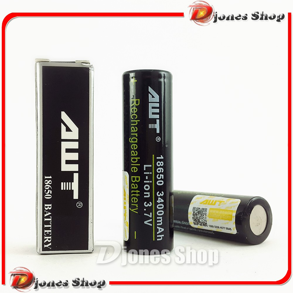 Battery Awt 3000mah 18650 Batterai Batre Rokok Elektrik Vave Charger Baterai Desktop 1 Slot Kipas Pb Vapor Merah Shopee Indonesia