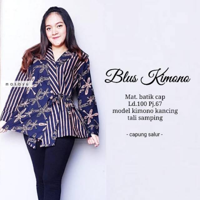 Blus Kimono Atasan Batik Wanita