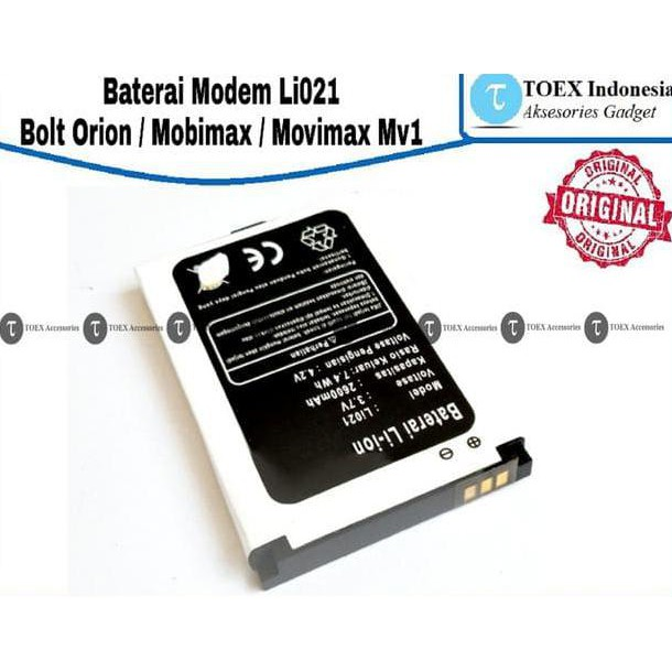 Baterai Batre Batere Battery Modem Bolt Bold Orion Movimax Mv1 Li 021 | Shopee Indonesia