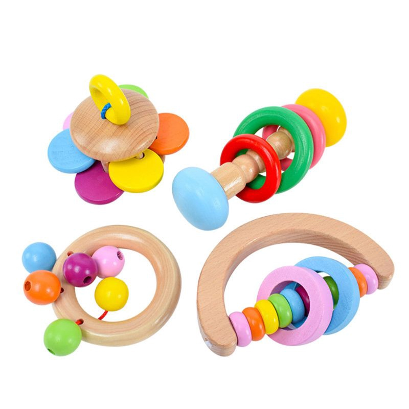Plastic Baby Rattles Hand Shake Bell Early Learning Educational Toys Kid Gift