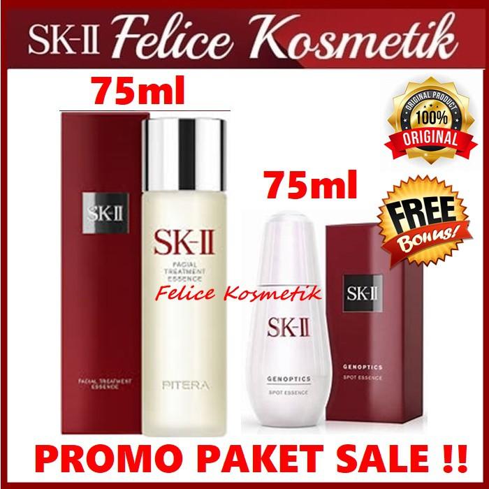SK-II SKII SK II PROMO FTE 75 ML PITERA + GENOPTICS SPOT ...