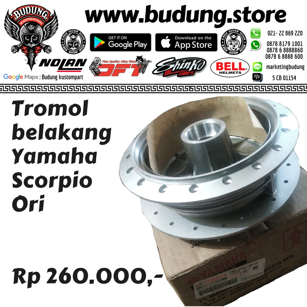 Behel U Lurus Scorpio Thunder Binter Shopee Indonesia Roll Untuk Sasis Honda