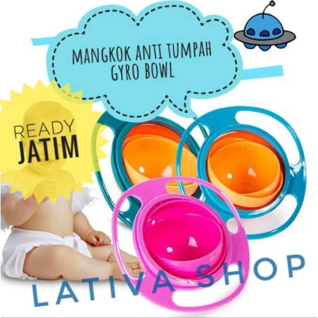 GET PRICE BES120418 GYRO BOWL MANGKOK ANTI TUMPAH BALITA BAYI ANAK SNACK BUBUR NASI KIDS MURAH | Shopee Indonesia