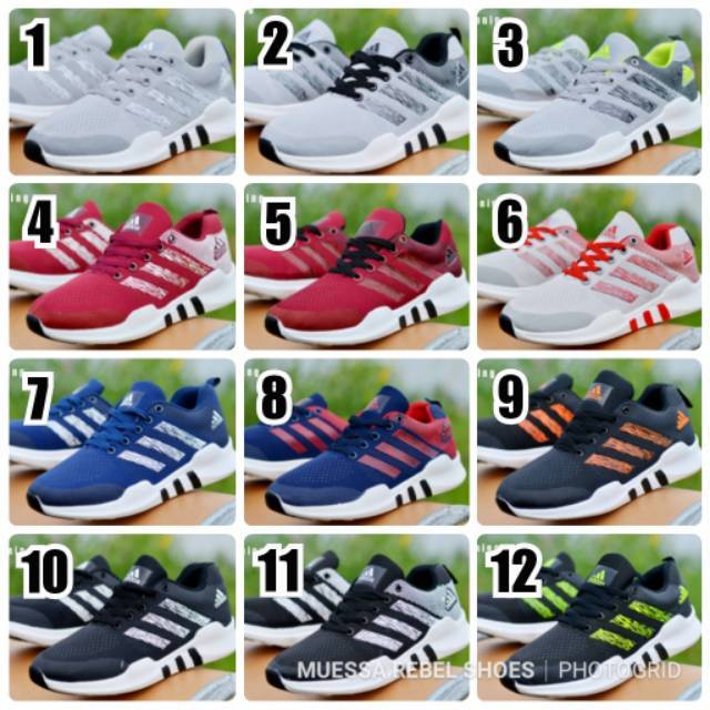 b5f4205f18f Sepatu Adidas Equipment EQT Premium Red Merah Blue Black Grey Fullwhite  Grade Original Sneakers Pria