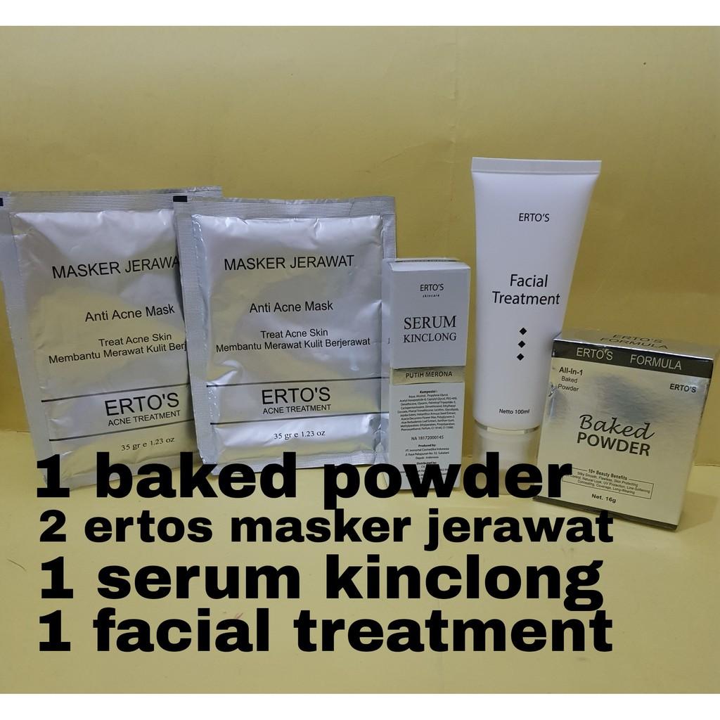 Paket Ertos 1 Baked Powder 2 Masker Jerawat1 Serum Glowing Kinclong1 Facial Treatment Shopee Indonesia